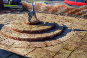 Dry Brick Wall and Batural Slabs-Patio -Landscape Gardeners Lincolnshire