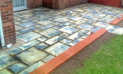 Patios with Man-Made Paving Slabs - Lincolnshire Landscaping