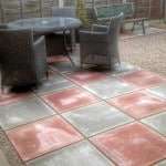 Patios with Slabs and Gravel