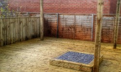 Pergola and wooden decking -Landscape Gardeners Lincolnshire