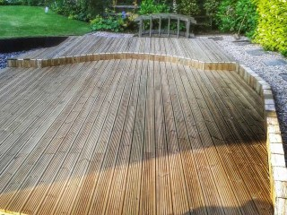 Wooden Decking - Lincolnshire Landscaping